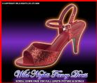 FANCY DRESS KAN35 DOROTHY RED GLITTER SHOES SIZE 4